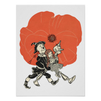 Wizard of Oz Dorothy and Poppies