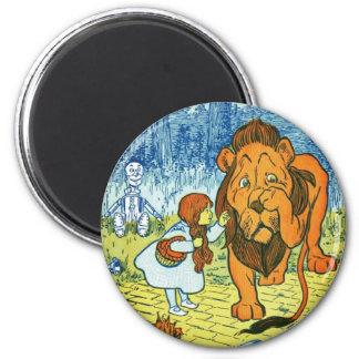オズの魔法使いドロシーおよび臆病なライオン マグネット