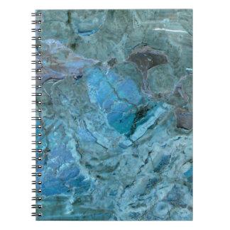 オセアニアのティール(緑がかった色)及び青い大理石 ノートブック