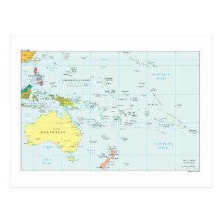 オセアニアの地図 ポストカード