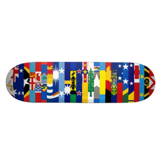 オセアニアの旗のスケートボード カスタムスケートボード
