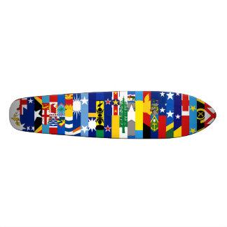 オセアニアの旗のスケートボード 18.7CM ミニスケートボードデッキ