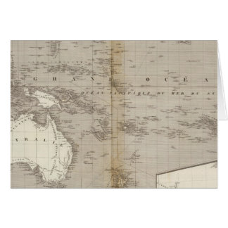 オセアニアのuncolored地図 カード