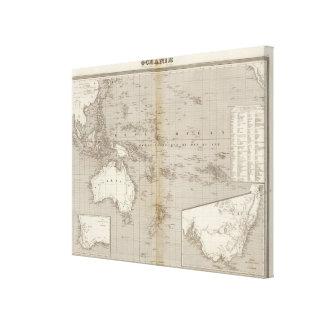 オセアニアのuncolored地図 キャンバスプリント