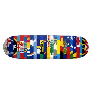 オセアニア 旗 スケートボード