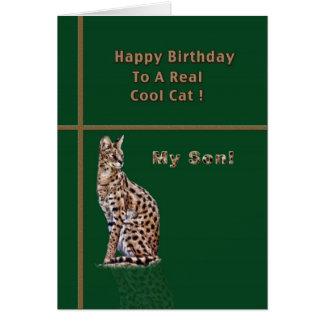 オセロットが付いている息子のバースデー・カード カード