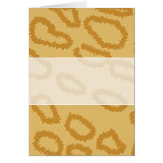 オセロットのアニマルプリントのパターン、ブラウンおよびタン色 カード