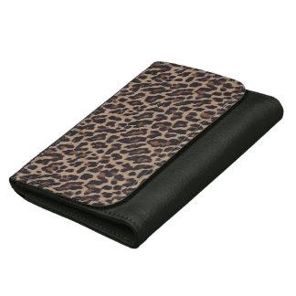 オセロットのチータのヒョウのブラウンのアニマルプリントの財布