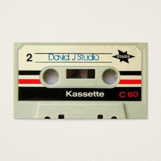 オタク系ので真面目な80年代カセットレトロのカセットテープ 名刺