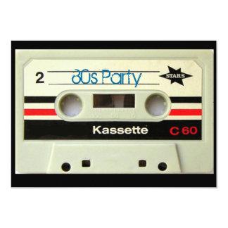 オタク系ので真面目な80年代カセットレトロのカセットテープ 12.7 X 17.8 インビテーションカード