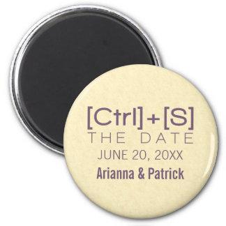 オタク系のなタイポグラフィの保存紫色日付の磁石 マグネット