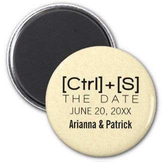 オタク系のなタイポグラフィの保存黒い日付の磁石 マグネット