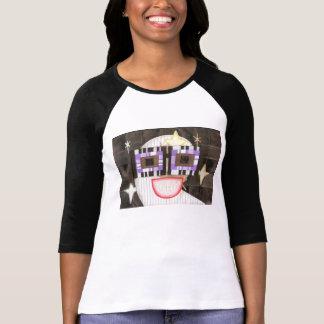 オタク系のな月の女性の四分の三の長さの上 Tシャツ