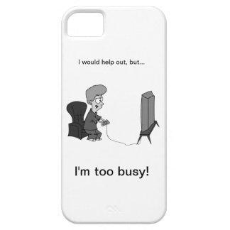"""オタク系のな賭博""""私は余りに忙しいです! """" iPhone SE/5/5s ケース"""