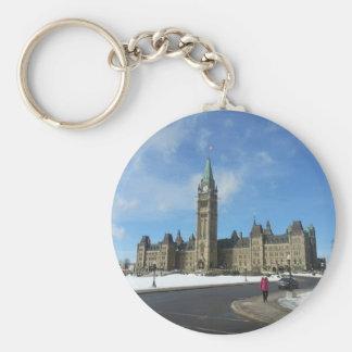 オタワのカナダの議会の女性 キーホルダー