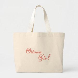 オタワの女の子 ラージトートバッグ