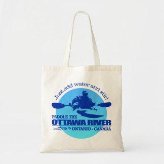 オタワの川(青い) トートバッグ