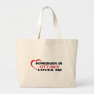 オタワの誰かは私を愛します ラージトートバッグ