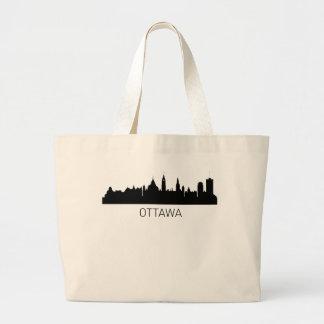 オタワオンタリオの都市景観 ラージトートバッグ