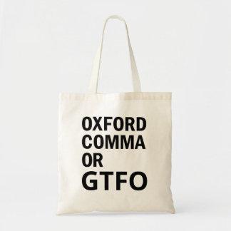 オックスフォードのコンマかGTFO トートバッグ