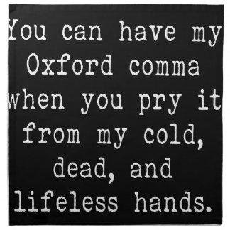 オックスフォードのコンマ ナプキンクロス
