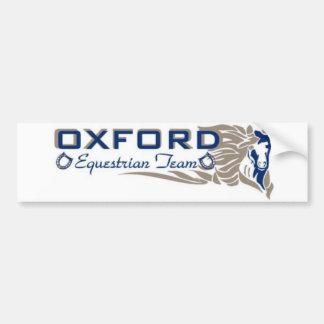 オックスフォードの乗馬のチームバンパーステッカー バンパーステッカー