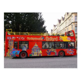 オックスフォードの観光バスイギリスの都市 ポストカード
