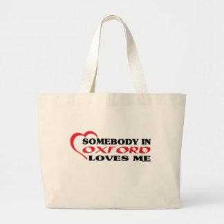 オックスフォードの誰かは私を愛します ラージトートバッグ