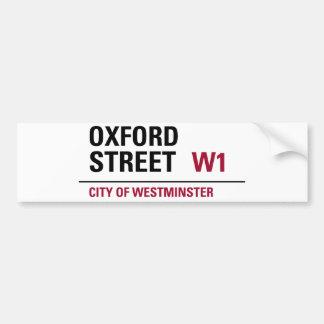 オックスフォードの道路標識 バンパーステッカー