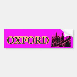 オックスフォードイギリスマゼンタ1986年の造るらせん状 バンパーステッカー