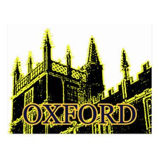 オックスフォードイギリス1986年の造るらせん状の黄色 ポストカード