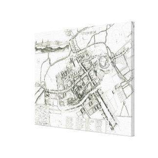 オックスフォード1643年の地図 キャンバスプリント