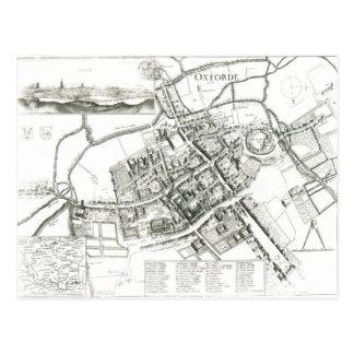オックスフォード1643年の地図 ポストカード