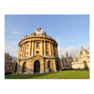 オックスフォード、イギリスの図書館 ポストカード