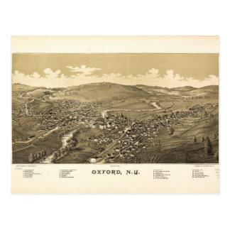 オックスフォード、ニューヨーク(1888年)の空中写真 ポストカード