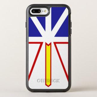 オッターボックスの誇りを持ったなニューファウンドランドの旗カナダ オッターボックスシンメトリーiPhone 8 PLUS/7 PLUSケース