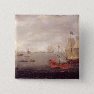 オットマンの国家Bが伴う2オランダの人のo'War 5.1cm 正方形バッジ