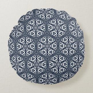 オットマントルコの青い製品のtraceryのデザイン ラウンドクッション