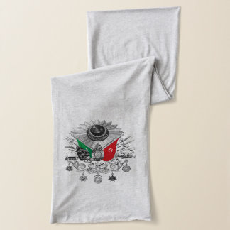 オットマン帝国グレースケールの紋章付き外衣 スカーフ