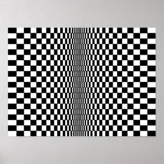オップアートのアルゴリズムポスター ポスター