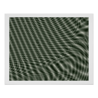 オップアートの任意雲紋の波04 ポスター