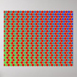 オップアートの勾配は緑の黄色い青および赤い一周します ポスター