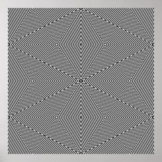 オップアートの対称の形だけ06 ポスター