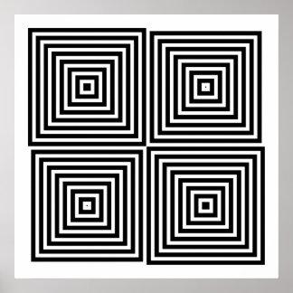 オップアートの対称の形だけ08 ポスター