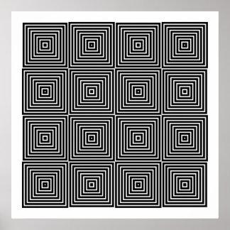 オップアートの対称の形だけ10 ポスター