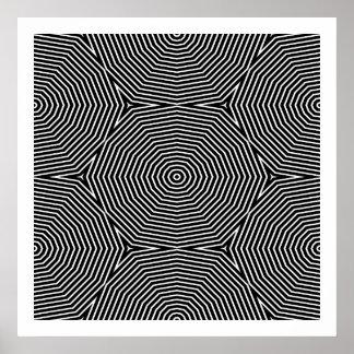 オップアートの継ぎ目が無い対称の形だけ04 ポスター