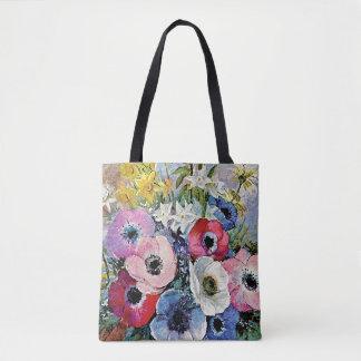 オディロン・ルドンのアネモネの花-ファインアートの象徴性 トートバッグ