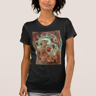 オディロン・ルドン著ステンドグラス窓(アレゴリー) Tシャツ