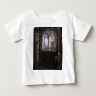 オディロン・ルドン著ステンドグラス窓 ベビーTシャツ