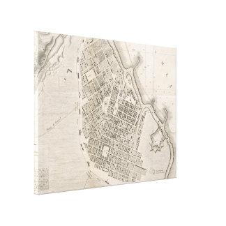 オデッサウクライナ(1827年)のヴィンテージの地図 キャンバスプリント
